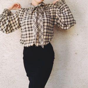 Yves Saint Laurent Silk Vintage Pussy Bow Blouse